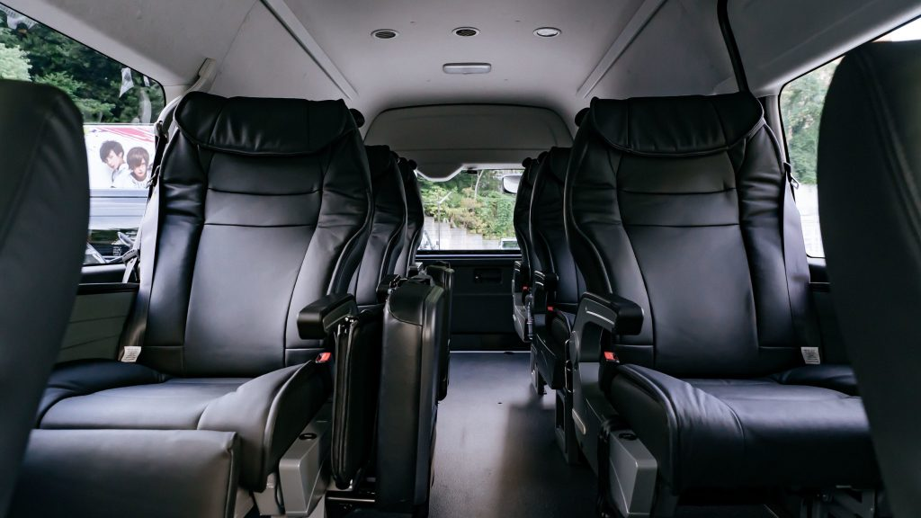 Kansai Chauffeured Airport Transfer Tour Package Toyota Hi Ace Luxury Cabin