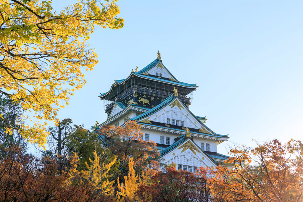 Osaka Castle Autumn in Osaka Private Package Tour