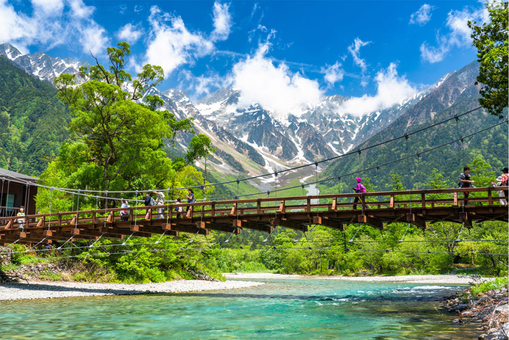 Kappa-bashi Bridge The Beauty of Kamikochi Private Package Tour