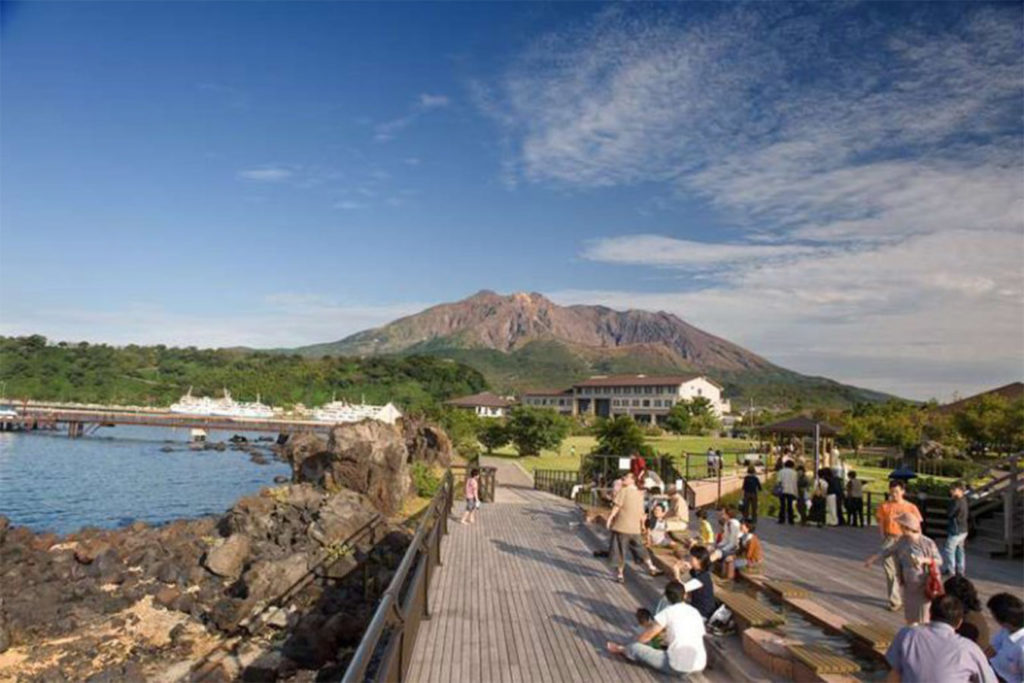 Nagisa Park Foor Bath Day Tour in Kagoshima Private Package Tour